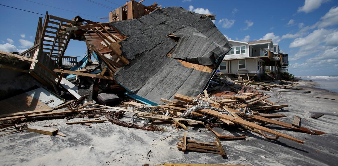 Floridské pobřeží po hurikánu Irma
