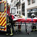 Zásah záchranářů po útoku v redakci Charlie Hebdo