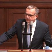 Miroslav Kalousek při rozpravě o asociační dohodě mezi EU a Ukrajinou