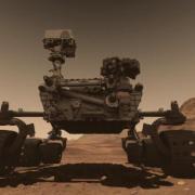 Vozítko Curiosity na Marsu
