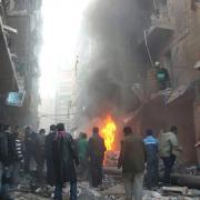 Důsledky náletu vládních sil na Aleppo