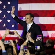 Ted Cruz při oslavách vítězství ve Wisconsinu