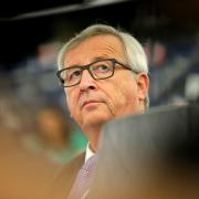 Jean-Claude Juncker na plénu Evropského parlamentu