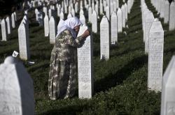 Pietní památník v Potočari nedaleko Srebrenici