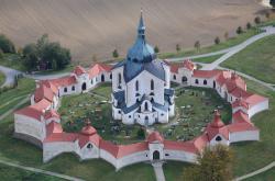 Poutní kostel Svatého Jana Nepomuckého na Zelené hoře u Žďáru nad Sázavou