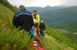 Resuscitace českého turisty zasaženého bleskem v Západních Tatrách