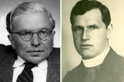 Jan Zahradníček (vpravo) a Josef Toufar
