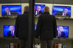 Putin se na televizních obrazovkách v Donbasu objevuje často