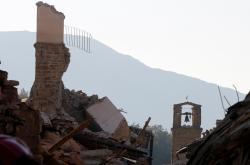 Zničené italské městečko Amatrice