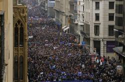 Prouprchlická demonstrace v Barceloně