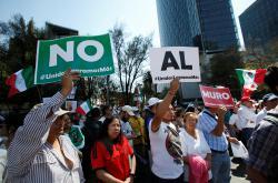 Protest proti stavbě mexické zdi