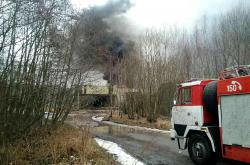 Hasičský zásah v Poličských strojírnách
