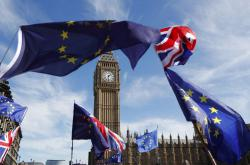Londýnská demonstrace za setrvání v EU