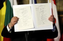 Podpisy pod římskou deklarací