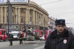 Ruské bezpečnostní složky po výbuchu v petrohradském metru
