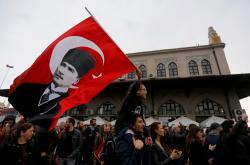 Protivládní demonstrace v Turecku