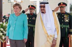 Angela Merkelová s králem Salmánem