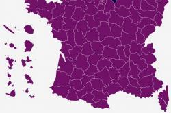 Volební mapa: Druhé kolo francouzských prezidentských voleb