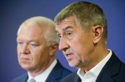 Předseda ANO Andrej Babiš a první místopředseda Jaroslav Faltýnek