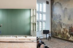 Obraz Pobití Sasíků pod Hrubou Skálou před a po zakrytí