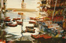 Vyplavený obchod Františka Mikela