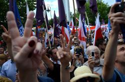 Protivládní protest v Polsku