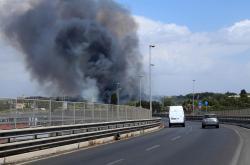 Požár v italské oblasti Eur-Magliana