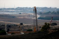 Stavba bariéry u Gazy