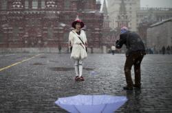 Čínští turisté v Moskvě