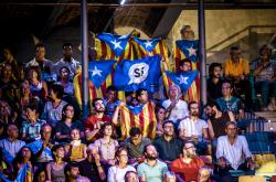 Stoupenci katalánské nezávislosti v Tarragoně