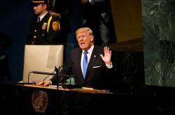 Donald Trump hovoří na půdě OSN