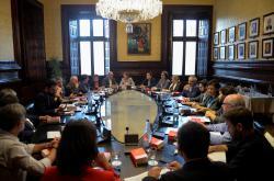 Jednání katalánských lídrů v Barceloně