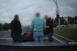 Záznam z kamery v autě napadeného řidiče