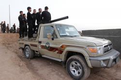 Kurdští pešmergové v Kirkúku
