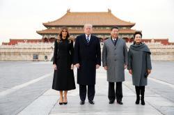 Donald Trump a Si Ťin-pching s manželkami v Zakázaném městě