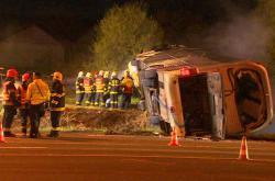 Nehoda autobusu u Kadaně