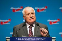 Václav Klaus na sjezdu AfD