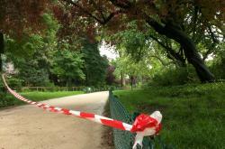 Část  pařížského parku Monceau byla uzavřena