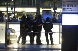 Policie u nákupního centra v Mnichově