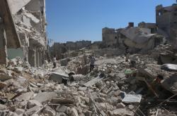 Aleppo po bombardování