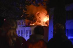 Požár polikliniky v Třešti
