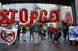 Protest proti smlouvě CETA