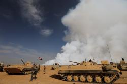 Irácká armáda jižně od Mosulu