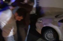 Záběry ze zatýkání