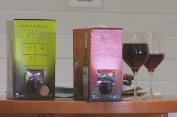 Víno z Novosedel v takzvaném bag-in-boxu