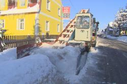 Odklízení sněhu v Jablonci