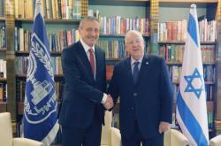 Ministr obrany Martin Stropnický a izraelský prezident Reuven Rivlin