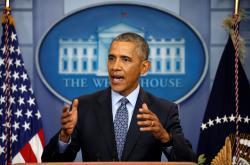 Barack Obama během své poslední tiskové konference