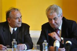 Karel Srp a Miloš Zeman