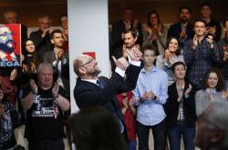 Martin Schulz na jednom z předvolebních mítinků